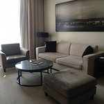 Living room area of our suite