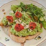 Smashed avocado on toast, yum!