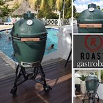 Big green egg action...every Saturday...join us for the Barbarians Grill every Saturday!!