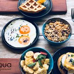 Tapas breakfast at ACQUA Restaurant Koh Phi Phi.  You choose the elements of your self selected.