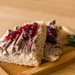 Goose paté with cranberry and our homemade bread