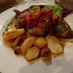 coniglio alla romagnola con patate al forno