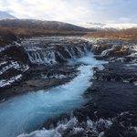 Bruarfoss Waterfall Foto