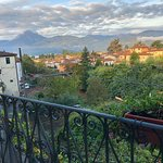 Looking out over Barga and the mountains in the background.