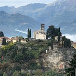 Barga - with the cathedral in the top middle and the B&B is located on the right edge.