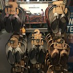We carry the best shoes and flip flops from OLUKAI This brand is incredibly comfortable and molds to your feet!