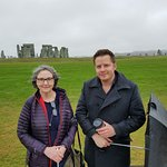 My wife, Cynthia, with our guide, Richard Chamber, at Stonehenge on our trip to visit this ancient site on Sunday, November 4, 2018.
