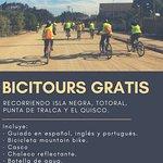 La I. Municipalidad de El Quisco en conjunto a Agencia Suroeste te invitan a circuitos en bicicleta gratuitos para todos. Incluye bicicleta, casco, agua y seguro de accidentes personales. No te lo pierdas. Todo el año 2018.