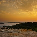 Sunset from the top of the fortress with views of the Pakleni islands
