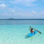 Main kano di Pulau Tinabo Besar adalah salah satu hal bisa dilakukan ketika berlibur ke Taman Nasional Takabonerate. Di pulau Tinabo ketika pagi dan sore hari, kita bisa melihat anak hiu di pinggir pantai. Pengalaman berenang/main kano yang beda dari biasanya.   [ENG] This is Tinabo Besar Island in Taka Bonerate National Park (Sulawesi, Indonesia). White sand, blue turquoise water, and some good soft and hard corals. You can swim or canoe with baby sharks by the beach.