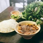 Bun cha is a local dish originally from Ha Noi, the capital of Vietnam.