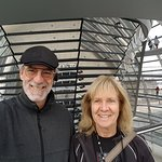 #Nuremberg Tours in English with #HappyTourCustomers inside Bundestag Dome in Berlin