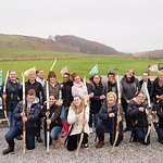 Another happy bunch of archers on a team building event
