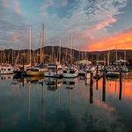 Stunning Sunset over the Nelson Marina.