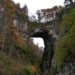 A distant of natural bridge, but there's so much more to the park than this.