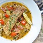 Ryba Moya. Seafood and fish. Foto