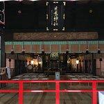 日吉宗社拝殿内部の雰囲気