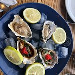 Fresh oysters from the restaurant