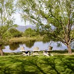 Spend the afternoon relaxing next to our reservoir with views of vineyards and mountains.