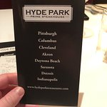 Foto di Hyde Park Prime Steakhouse