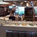 Front:  Oysters, Crayfish, Big Prawns, Sashimi, Sushi