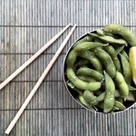 Edamame. Simple and delicious. A perfect snack. #gogreen