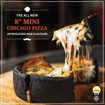 "All new charcoal 8/12 "" chicago styled pizza and exciting new flavours Butter chicken Paneer mak"
