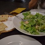 Caesar Salad with side Piadina (with nothing in it).