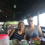 Our son and daughter in law enjoying breakfast