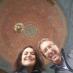Esra and I on a tour of Topkapi Palace - right before the most amazing views of the city skyline and the Golden Horn