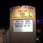 Foto de Bayou On The Beach Cafe