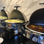 Our five traditional Brazilian hot sides on display.