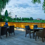 During the summer you can have dinner on the lake Floreasca, with a spectacular view of the North Bucharest skyline