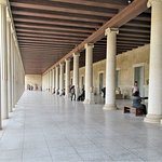 The covered walkway of the Stoa of Attalos.