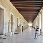 Another view of the covered walkway of the Stoa of Attalos.