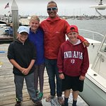 East Meets West Excursions with Captain Nick. Pictured: Captain Nick with Whale watching guests. View Whales and Dolphin in their migration path offshore. Daily Trips. Specializing in Small Boat Size with 6 Passengers Maximum. Book Online emwexcursions.com