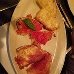 The wonderful bruschetta starter.