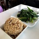 Chinese Broccoli and a side of brown rice
