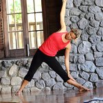 2 spacious yoga studios that overlook the sea