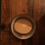 Peanut brittle ice cream with caramel flake