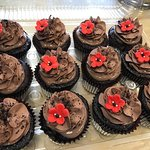 red flower wizard of oz cupcakes