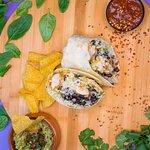 Baja fish burrito