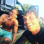 Happy surf coaches at Ride The Tide Surf School Barbados