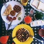 Наш завтрак, голодными не остались)