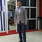 Sport jacket From wool cashmere and silk cashmere pant . From USA