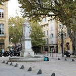 The statue of the king of Provence - le Roi René  Aix-en-Provence