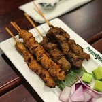 Mixed Satay, Chicken and Beef