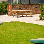Corn Hole and Grill Area