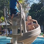 Kids can also enjoy their stay having fun while sliding at one of our pools!