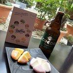 Dessert mochi glacé avec Bière Japonais COEDO